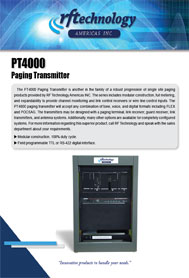 PT4000 Paging Transmitters